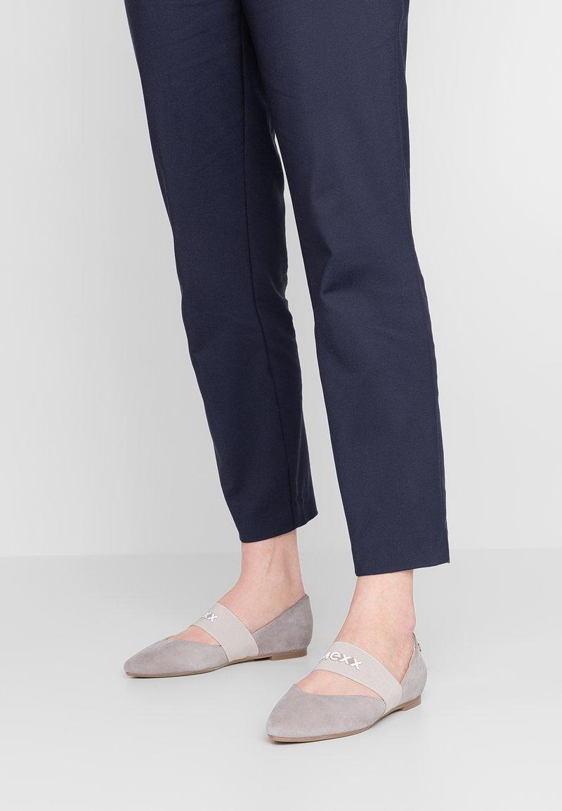Mexx - CATARINA - Ankle strap ballet pumps - light grey