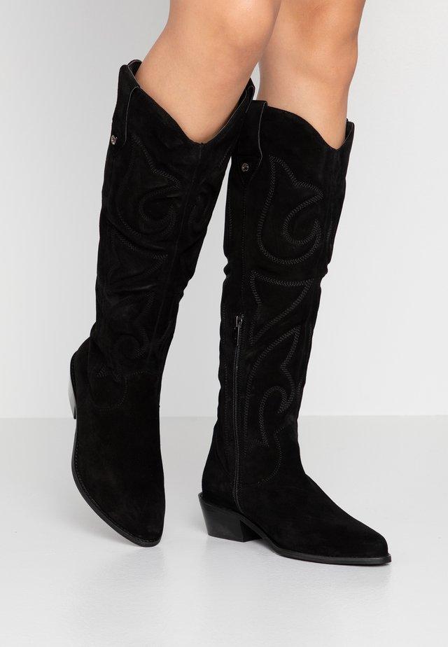 DARA - Kovbojské/motorkářské boty - black