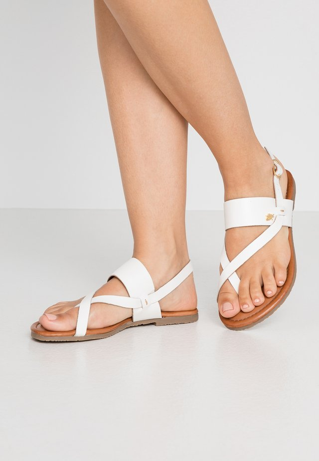 EVELINN - T-bar sandals - white