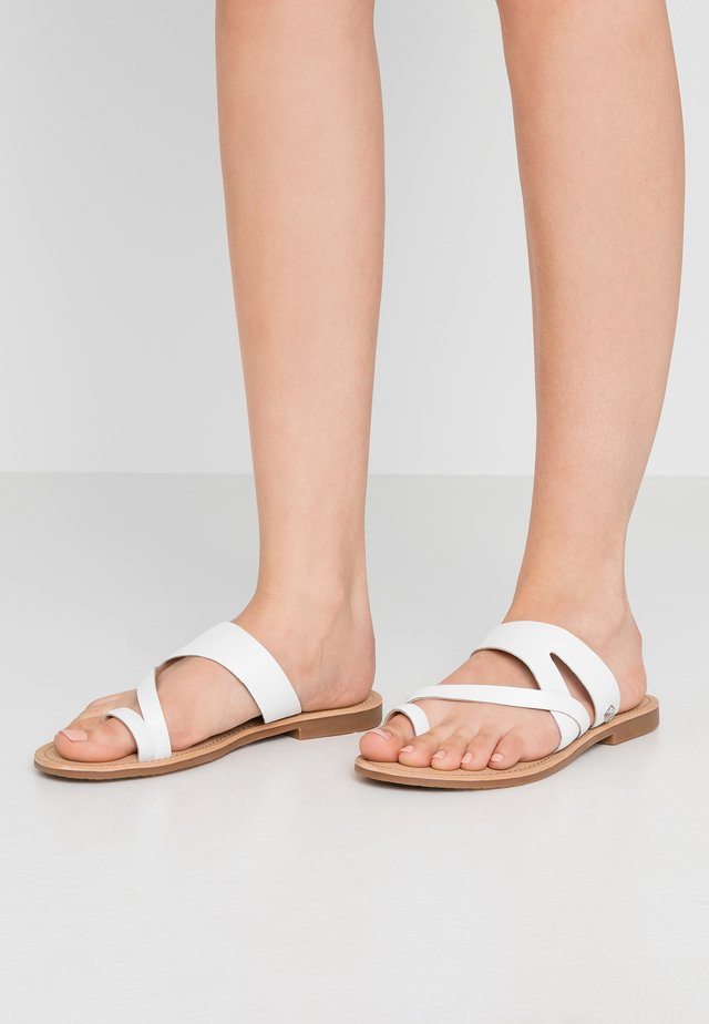 ELORA - T-bar sandals - white