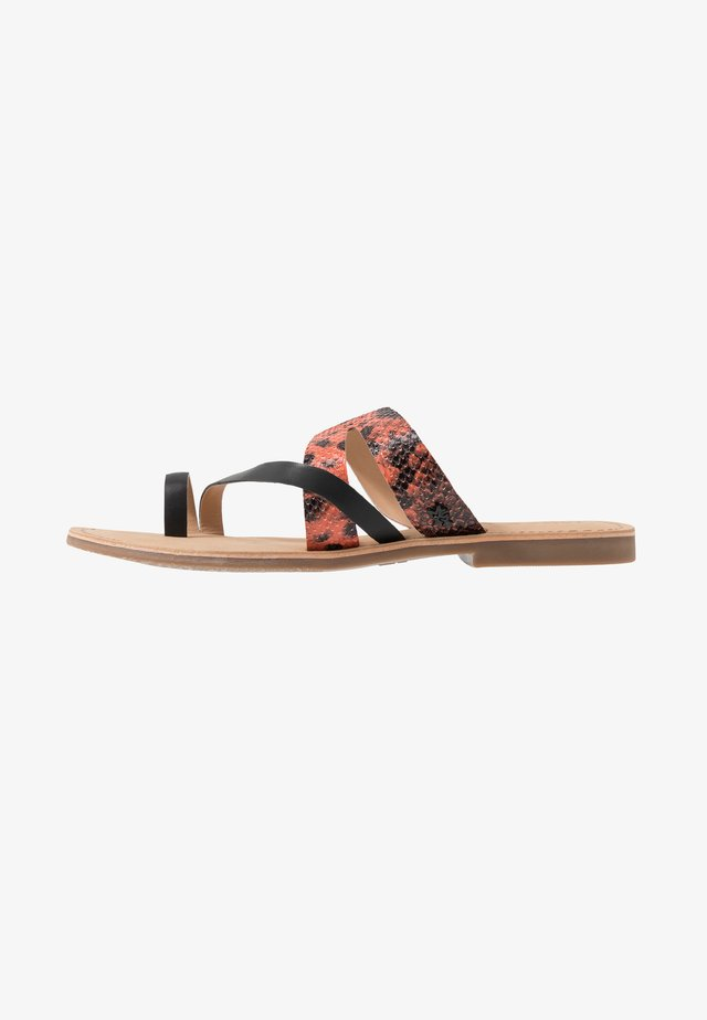 ELORA - T-bar sandals - orange