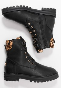Mexx - DELANA - Šněrovací kotníkové boty - black - 3