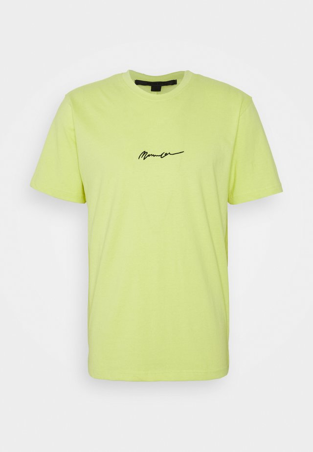 UNISEX ESSENTIAL SIGNATURE - T-shirts - neon yellow