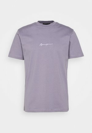 UNISEX ESSENTIAL SIGNATURE - Jednoduché triko - murky violet