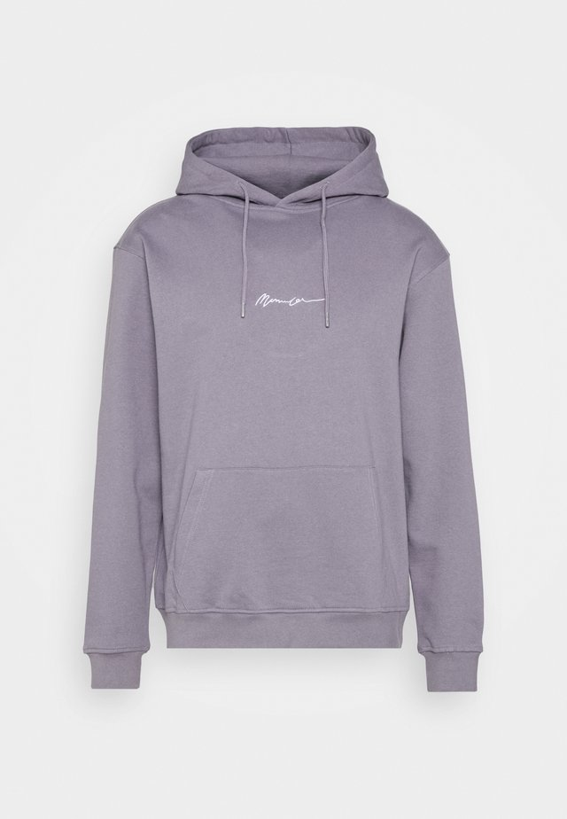 UNISEX ESSENTIAL SIGNATURE HOODIE - Jersey con capucha - murky violet