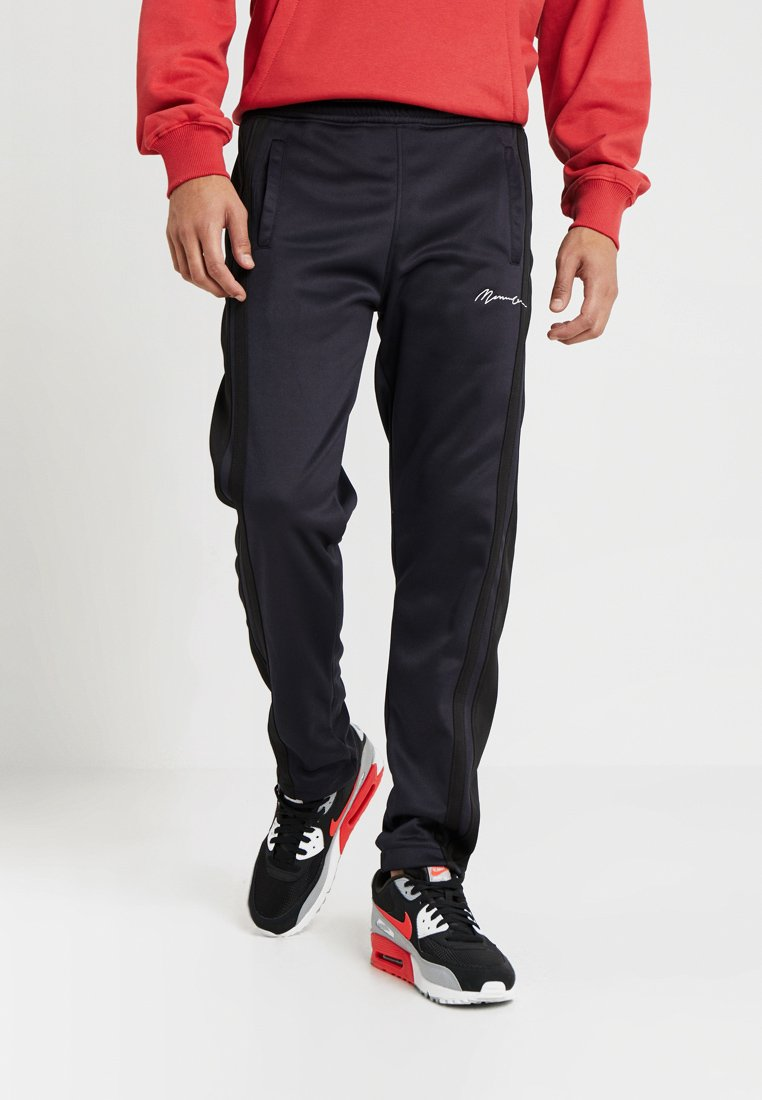 Mennace - TRICOT WITH BLACK TAPE - Tracksuit bottoms - navy