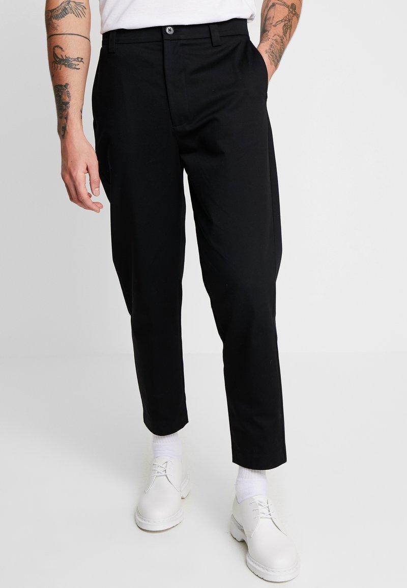 Mennace - TAPERED  - Chino kalhoty - black
