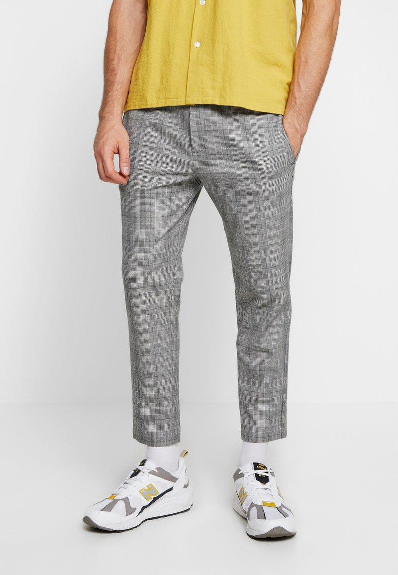 Mennace - POW CHECK SMART JOGGER - Kalhoty - grey