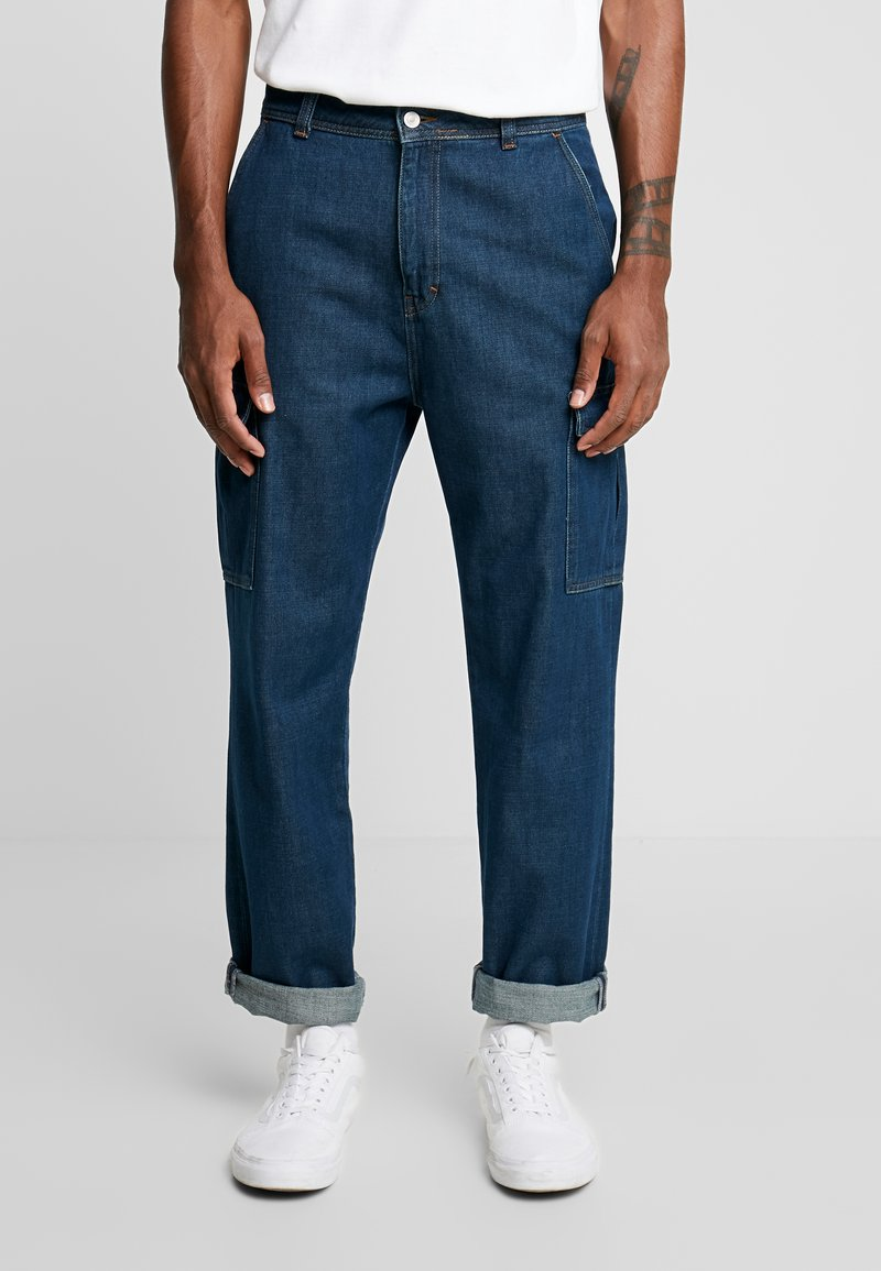 Mennace - UTILITY - Relaxed fit jeans - blue