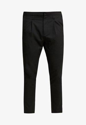 SIDE PIPED TROUSER - Spodnie materiałowe - black