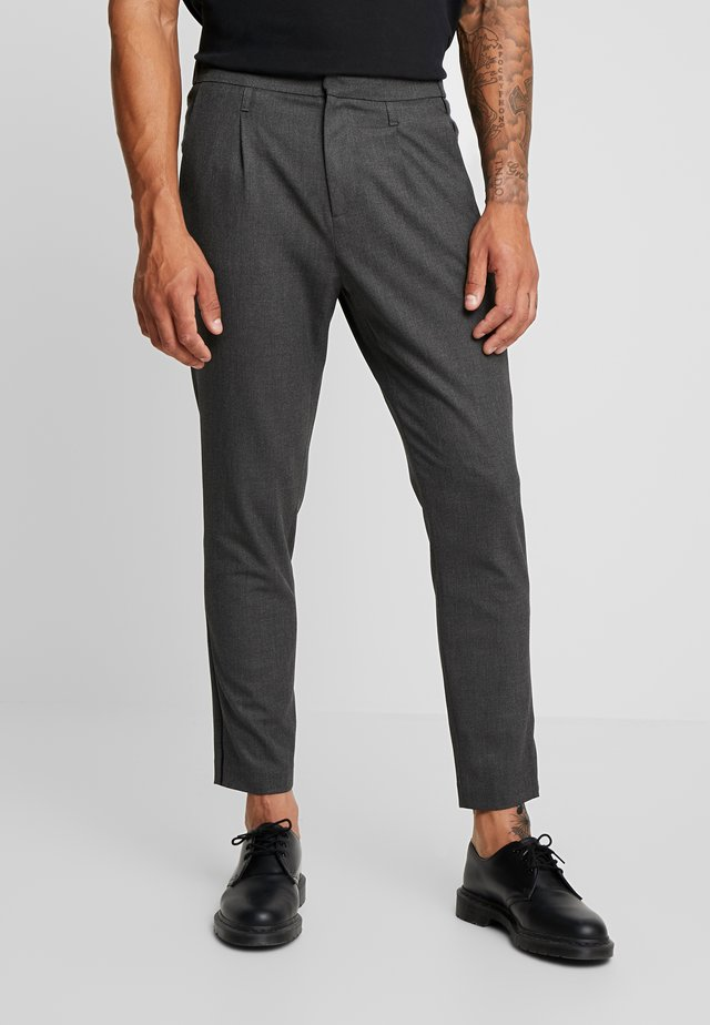 SIDE PIPED TROUSER - Stoffhose - grey