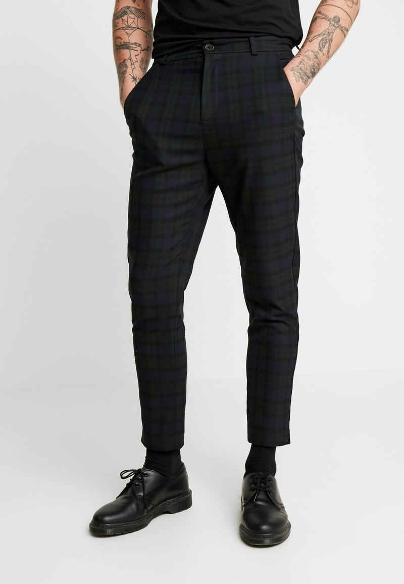 Mennace - SLIM TROUSER BLACKWATCH - Kalhoty - green