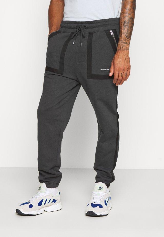 TAPE OUTLINE  - Teplákové kalhoty - charcoal