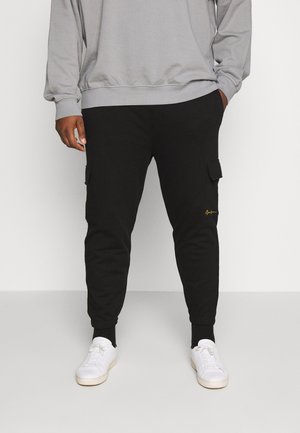 ESSENTIAL SIGNATURE PLUS - Tracksuit bottoms - black