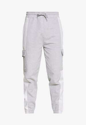 LOOPBACK PANEL POCKET UTILITY JOGGER - Pantalon de survêtement - grey marl