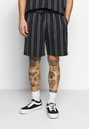 STRIPED ELASTICATED - Shorts - navy