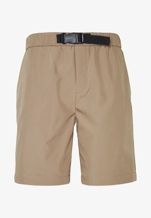 GROSSGRAIN BELTED PULL ON - Shorts - stone