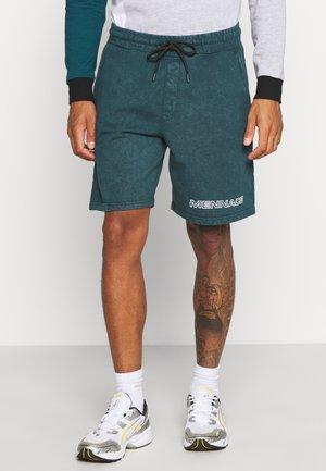 ACID WASH - Shorts - teal