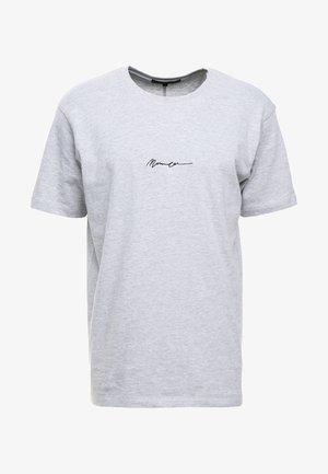 ESSENTIAL REGULAR RELAXED SIG TEE - Jednoduché triko - grey