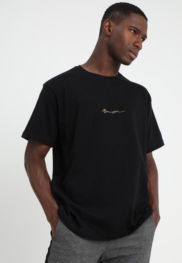 ESSENTIAL REGULAR RELAXED SIG TEE - T-paita - black
