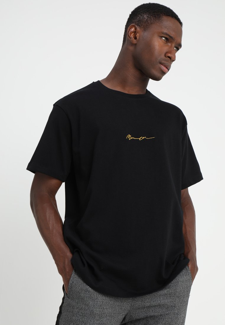 Mennace - ESSENTIAL REGULAR RELAXED SIG TEE - T-Shirt basic - black