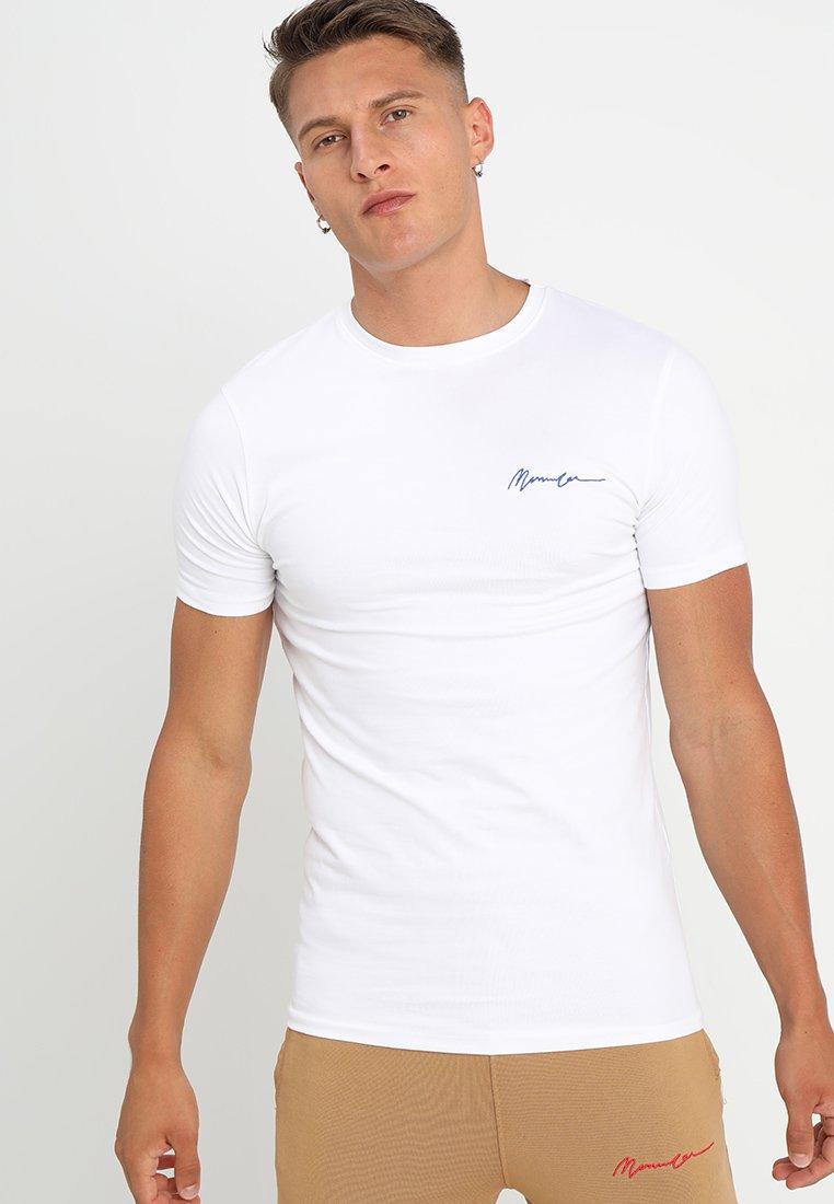 Mennace - MUSCLE TEE - Jednoduché triko - white