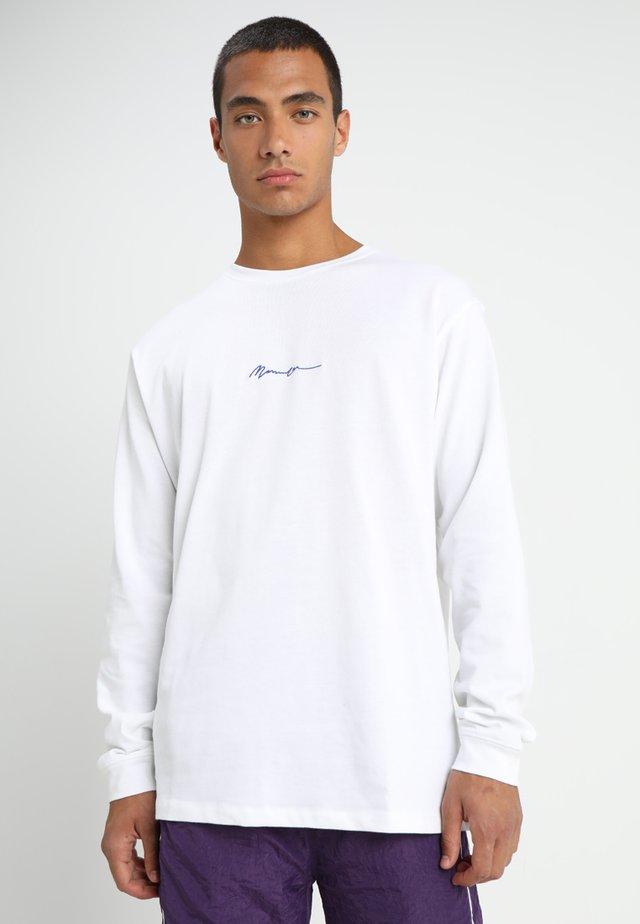 ESSENTIAL SIGNATURE TEE - Langærmede T-shirts - white