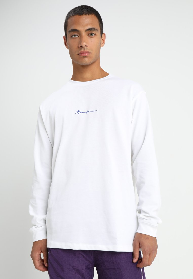 Mennace - ESSENTIAL SIGNATURE TEE - Langarmshirt - white