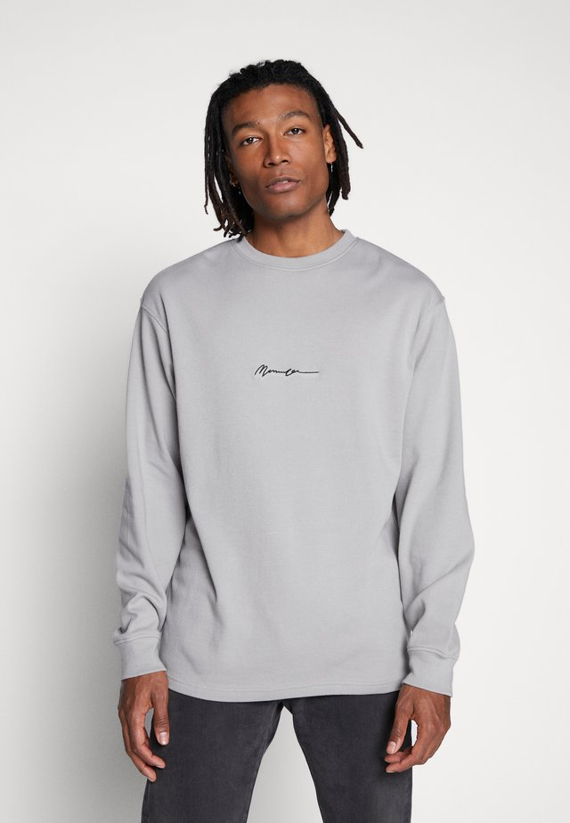 ESSENTIAL SIGNATURE TEE - Topper langermet - slate grey
