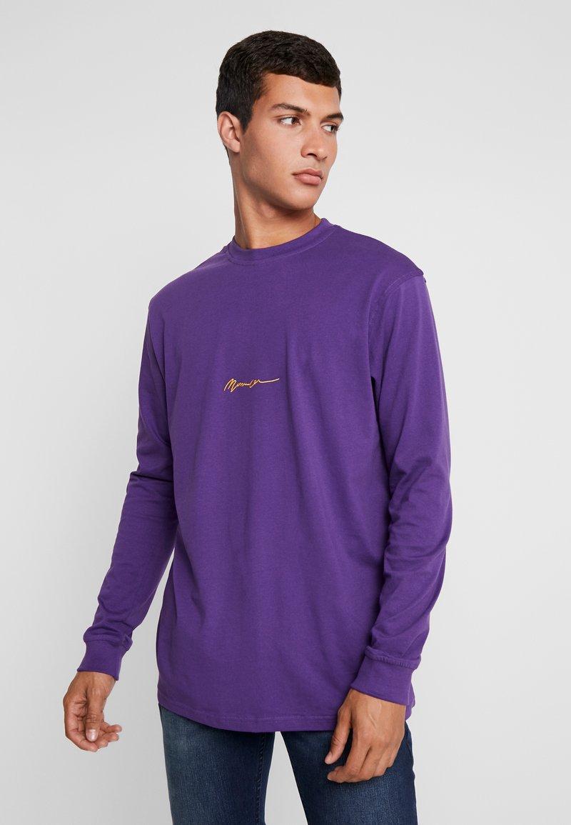 Mennace - ESSENTIAL SIGNATURE TEE - Long sleeved top - purple