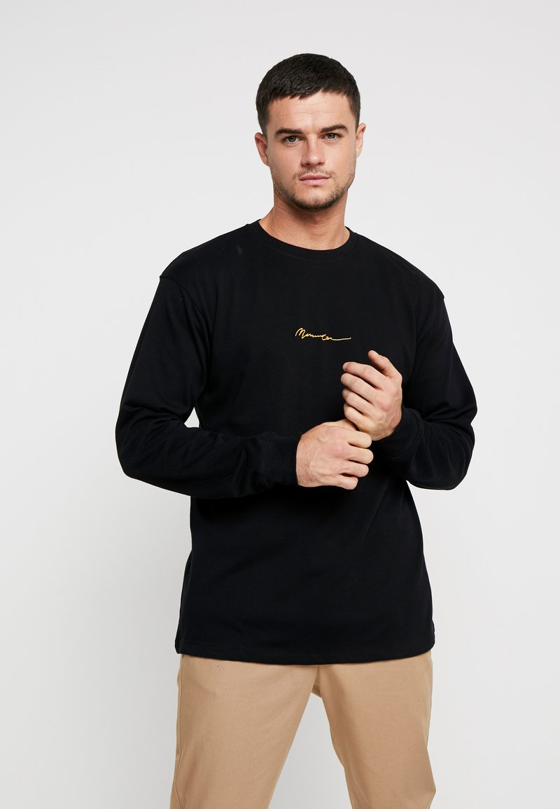 Mennace - ESSENTIAL SIGNATURE TEE - Long sleeved top - black