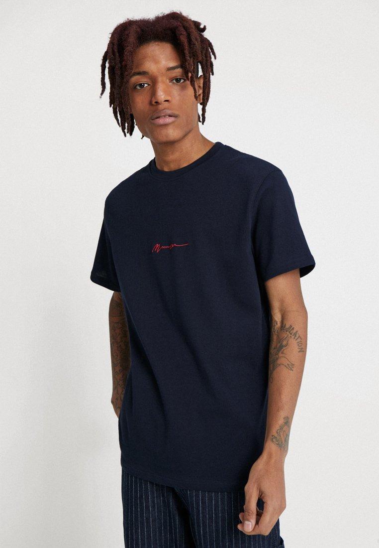 Mennace - ESSENTIAL TEE  - T-shirt - bas - navy