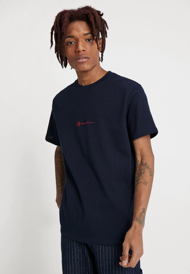 Mennace - ESSENTIAL TEE  - Basic T-shirt - navy