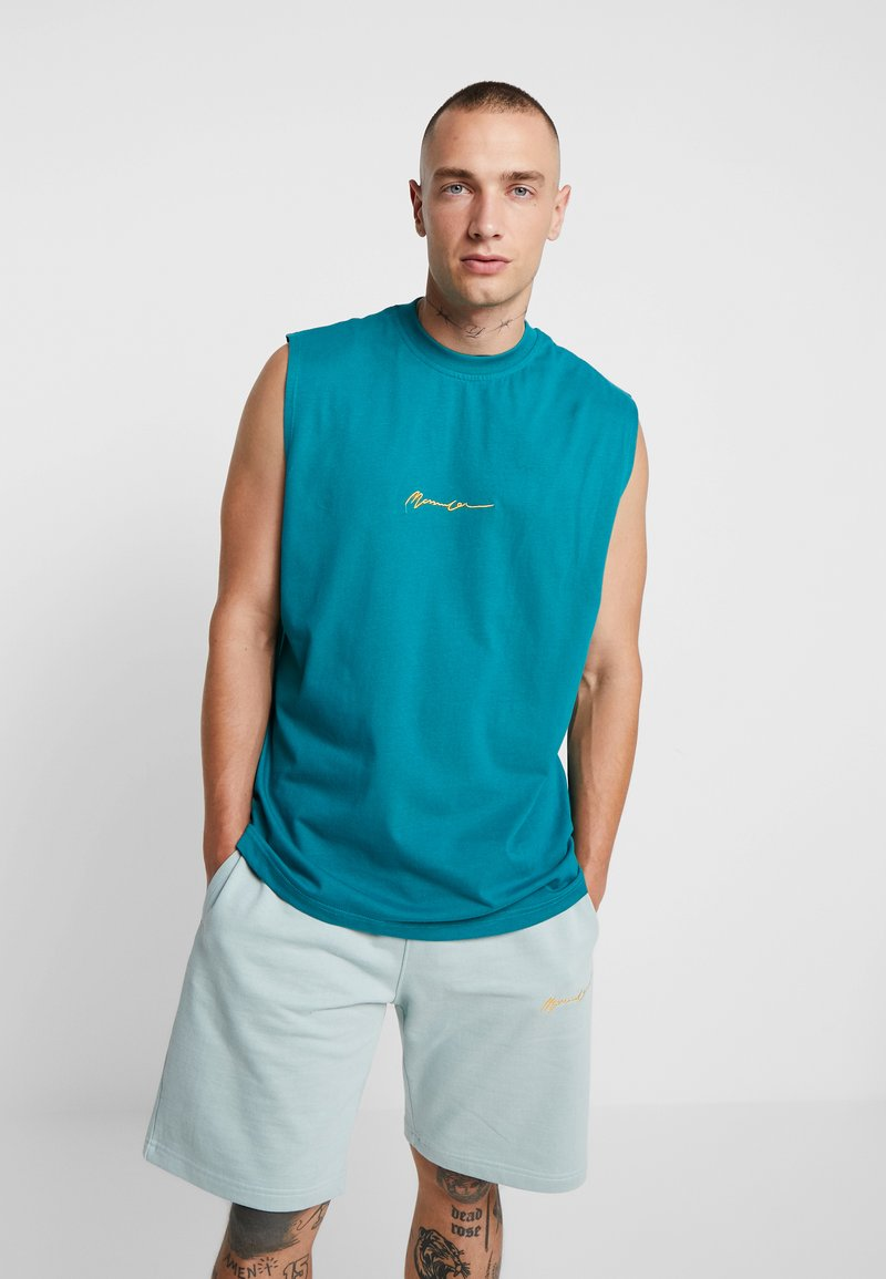 Mennace - CUT OFF VEST  - Top - turquoise