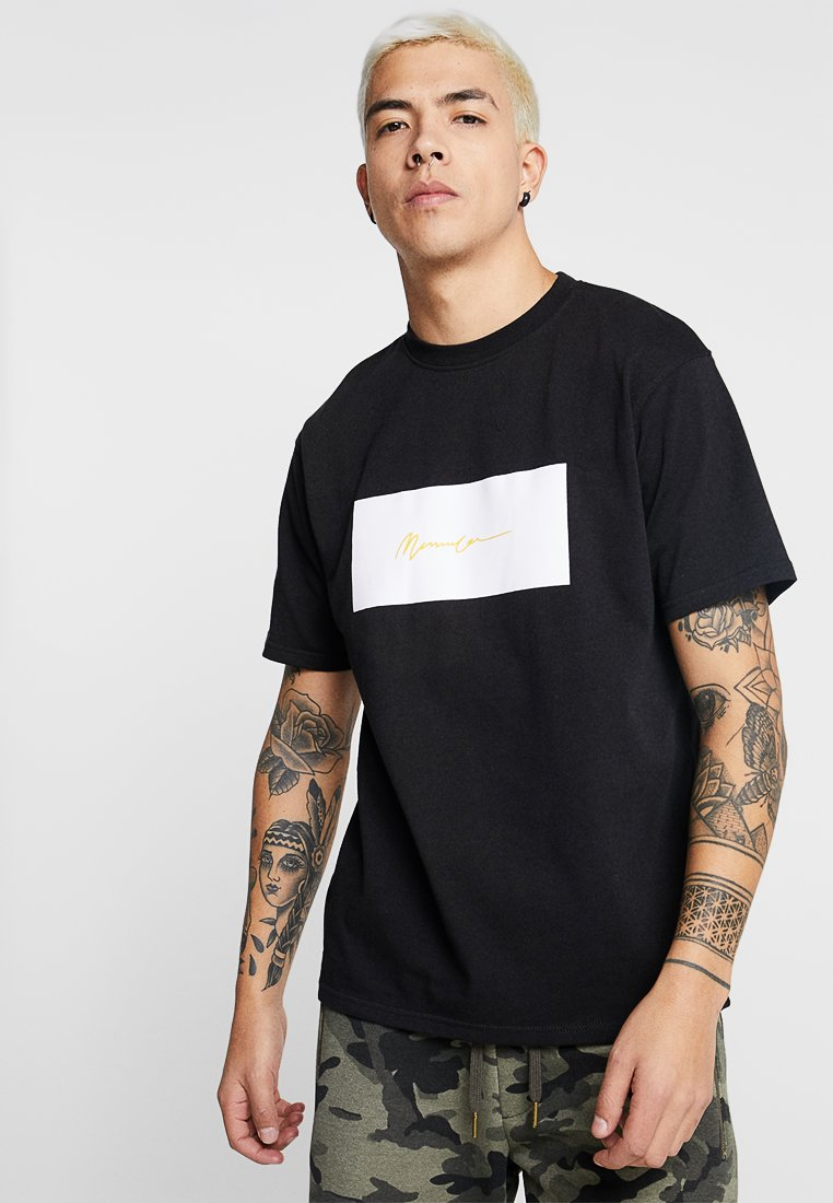 Mennace - BOX LOGO SIGNATURE TEE - Print T-shirt - black