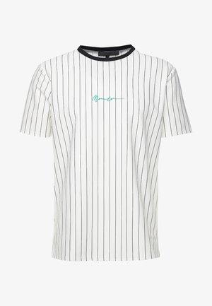STRIPE TEE - T-shirts med print - white