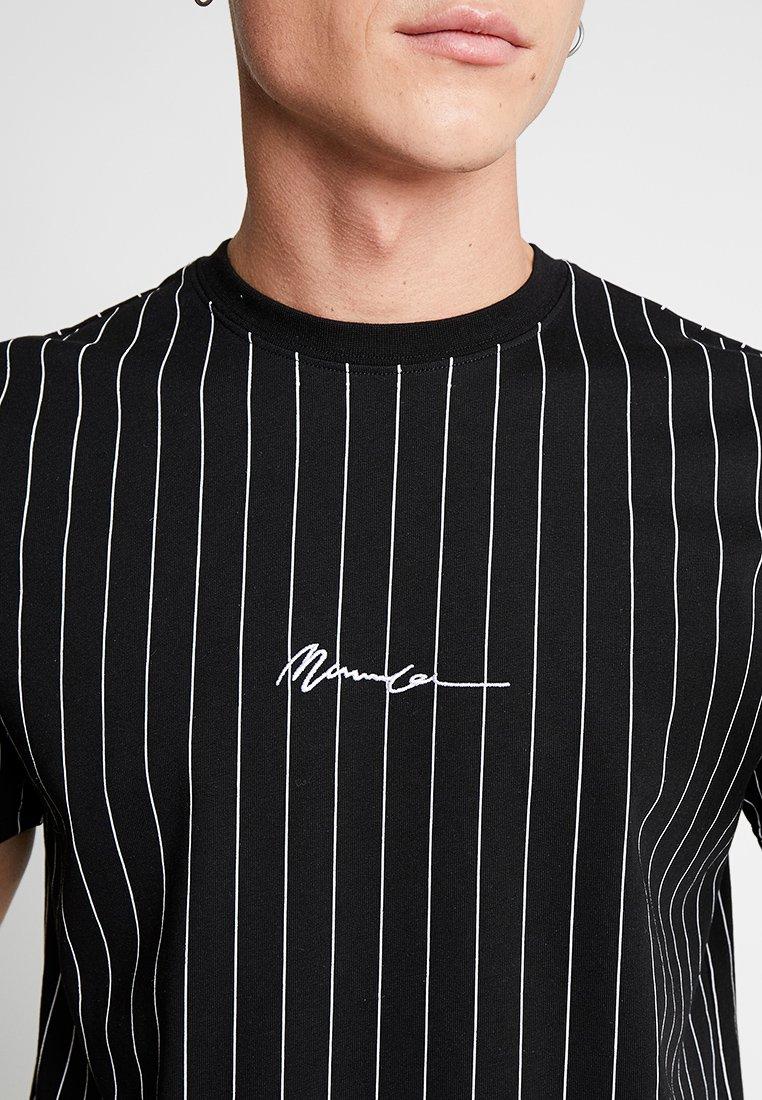 Mennace Tee With Embroidery - T-shirt Print Black qu6m4H1