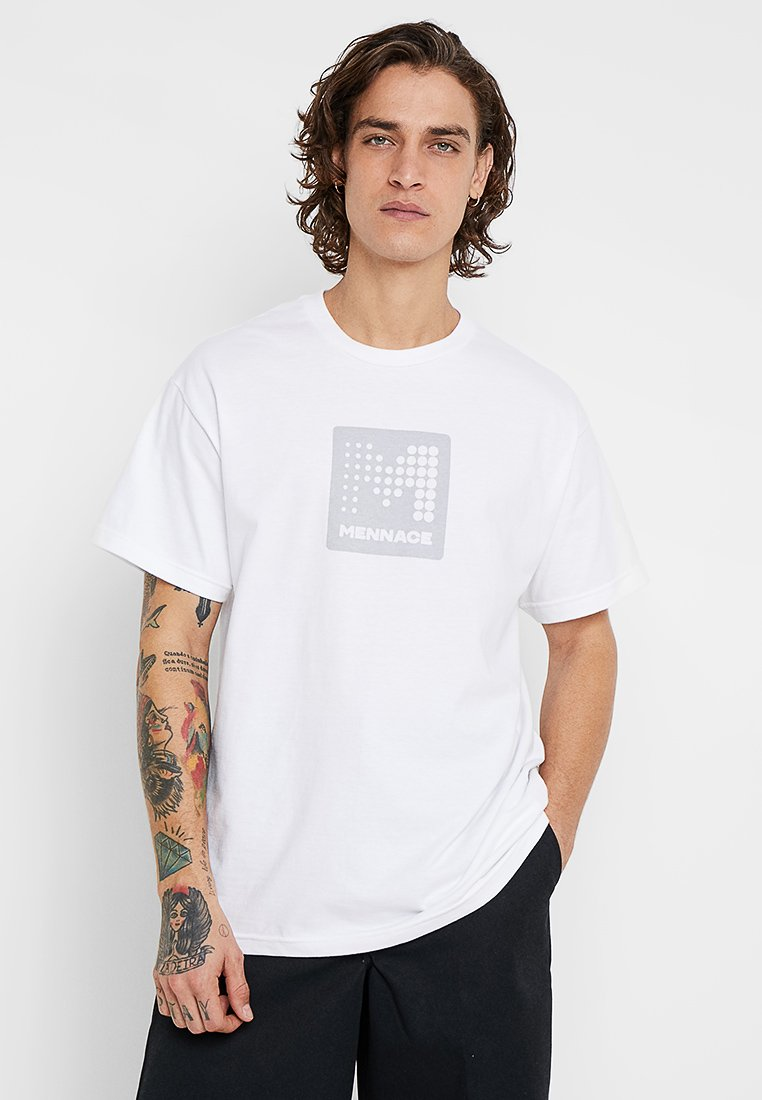 Mennace - REFLECTIVE  - T-Shirt print - white