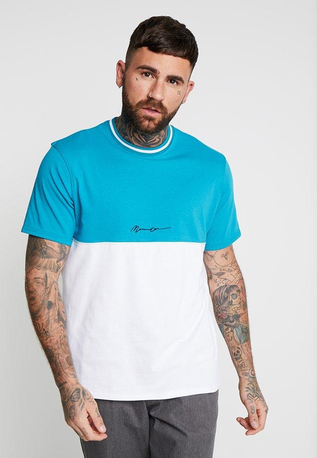 HALF AND HALF - T-Shirt basic - teal