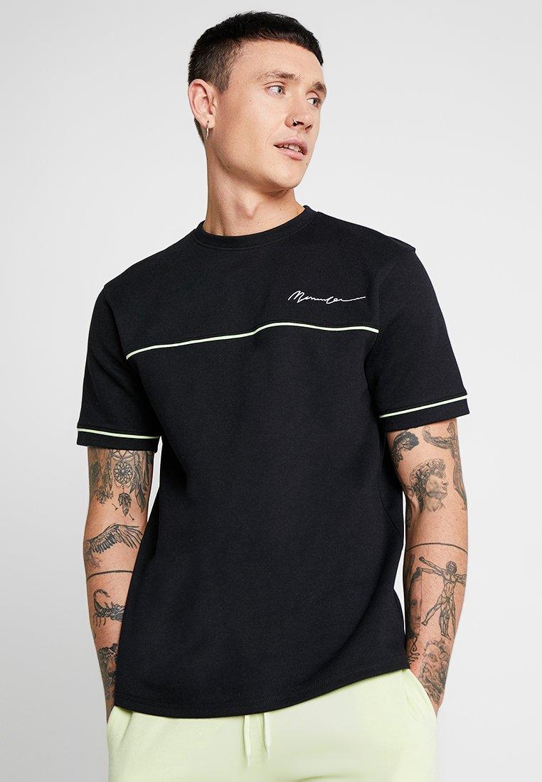 Mennace - LIME PIPING - Camiseta básica - black