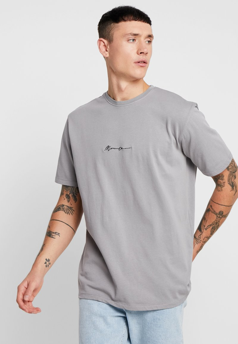Mennace - SIGNATURE  - Jednoduché triko - slate