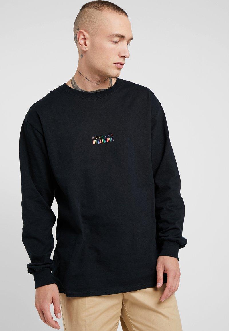 Mennace - RAINBOW BARCODE - Langarmshirt - black