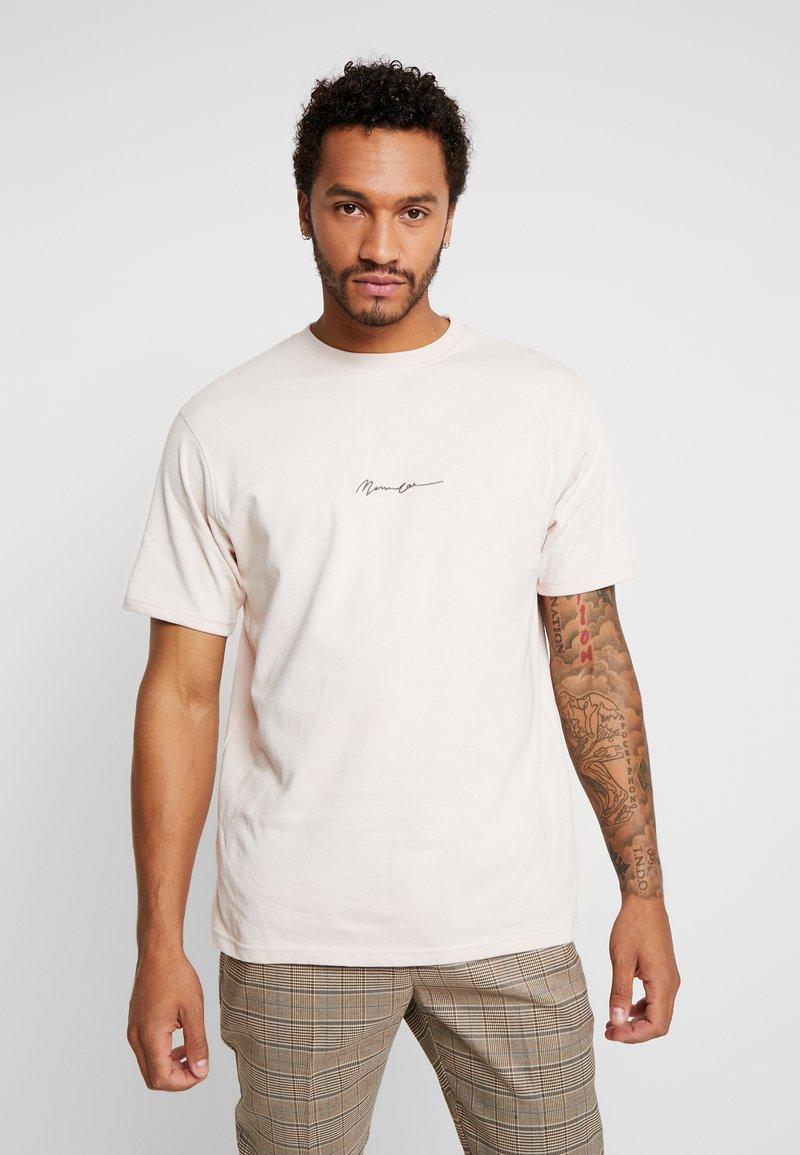 Mennace - ESSENTIAL SIG - Basic T-shirt - beige