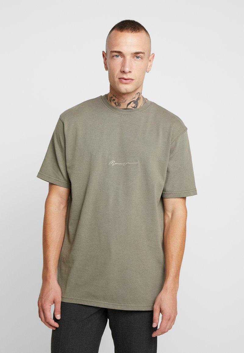 Mennace - ESSENTIAL SIG - Basic T-shirt - khaki