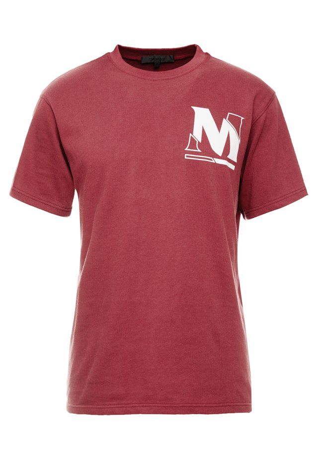 VOID CUTTER TEE - T-Shirt print - burgundy