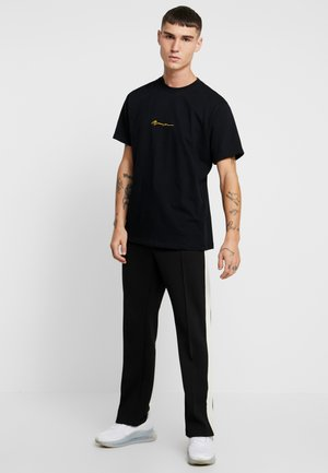 2 PACK - T-shirt print - black/grey