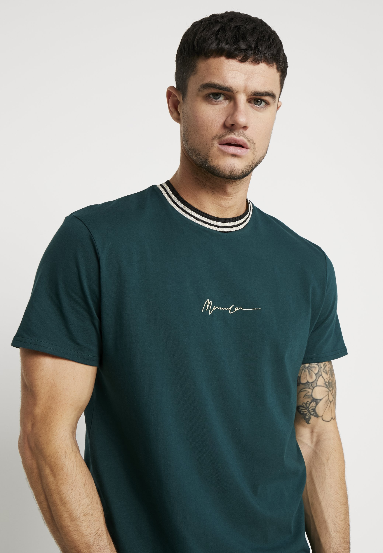 Mennace METALLIC EMBROIDERY SIGNATURE - T-shirt z nadrukiem - green