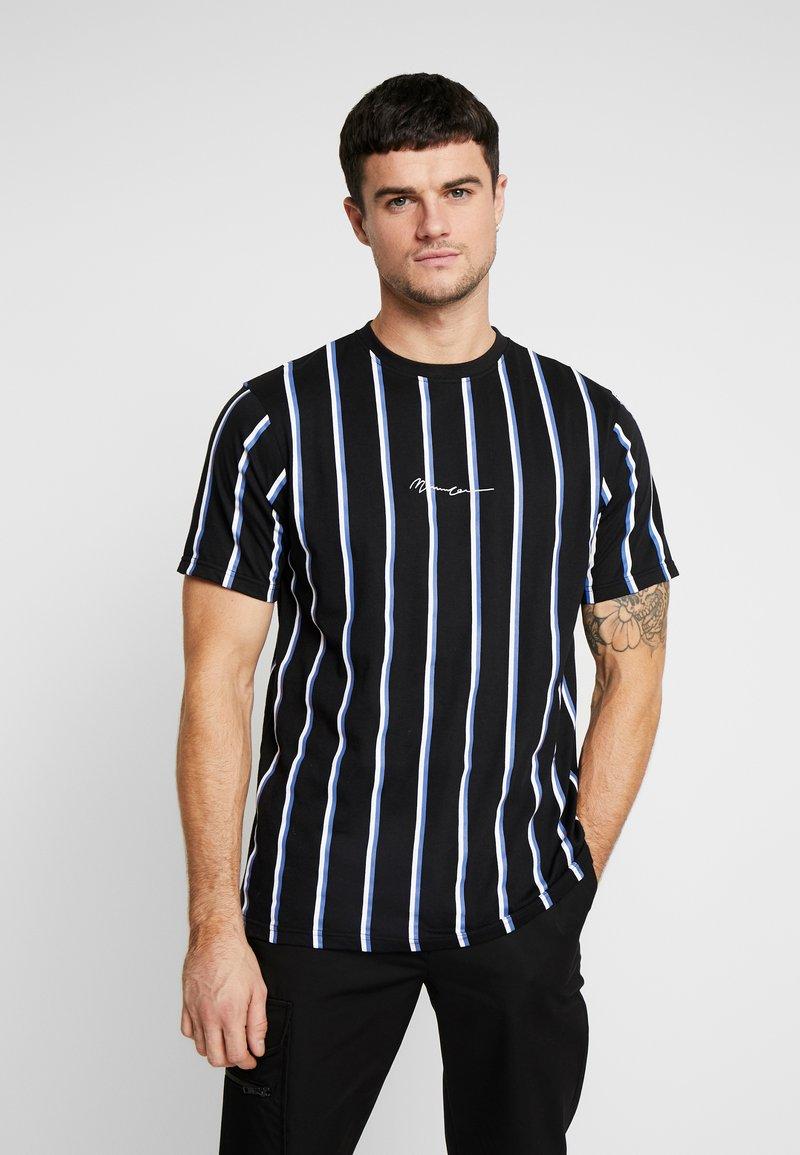 Mennace - STRIPE - T-shirt med print - black