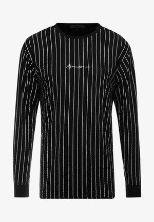 LONG SLEEVE STRIPED - Långärmad tröja - black
