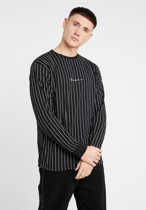 LONG SLEEVE STRIPED - Maglietta a manica lunga - black